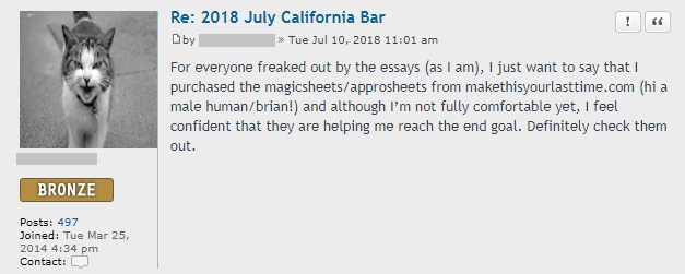 """For everyone freaked out by the essays (as I am) . . . I purchased the Magicsheets/Approsheets . . . I feel confident that they are helping me reach the end goal."""