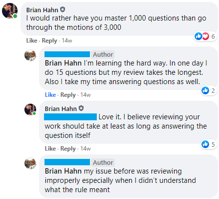 Reviewing your work should take at least as long as answering the question itself